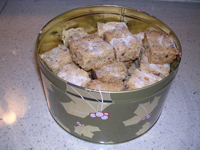 Linda Farmer's Food Processor Shortbread Bars
